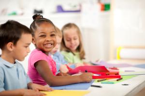 Preschool children doing activities.