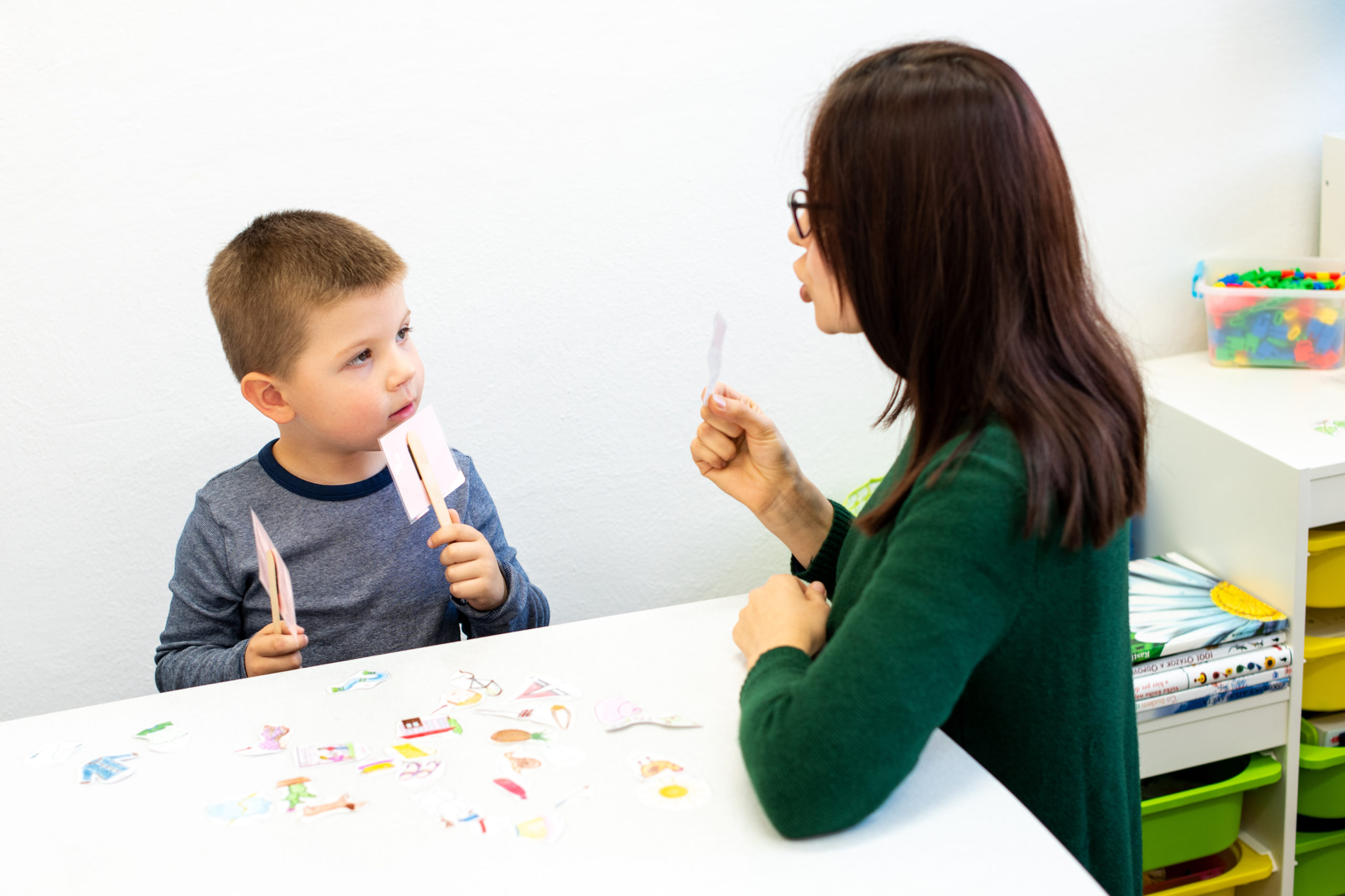 boy in speech therapy